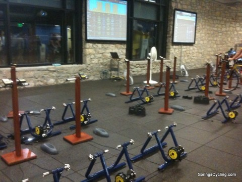 Computrainers at Carmichael Training Systems