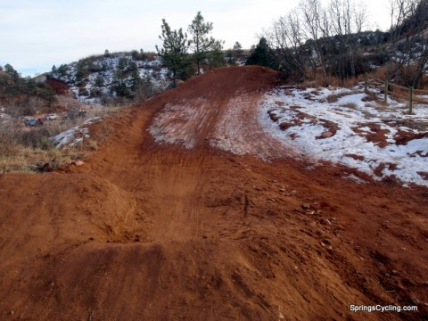 Mountain Bike Jumps in Red Rock Canyon Open Space