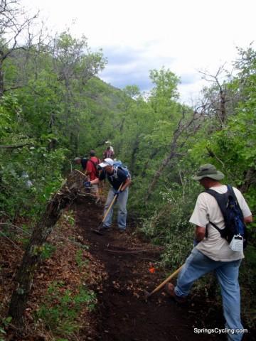 Stephanie's Trail Work