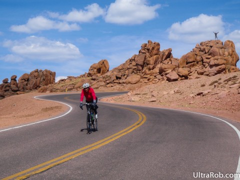 Bike on Pikes Peak Highway