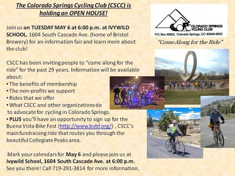 Colorado Springs Cycling Club Open House